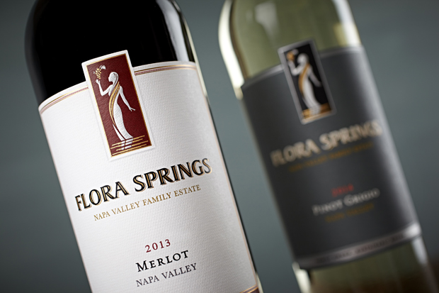 New Look Flora Springs Labels 2013 Napa Valley Merlot